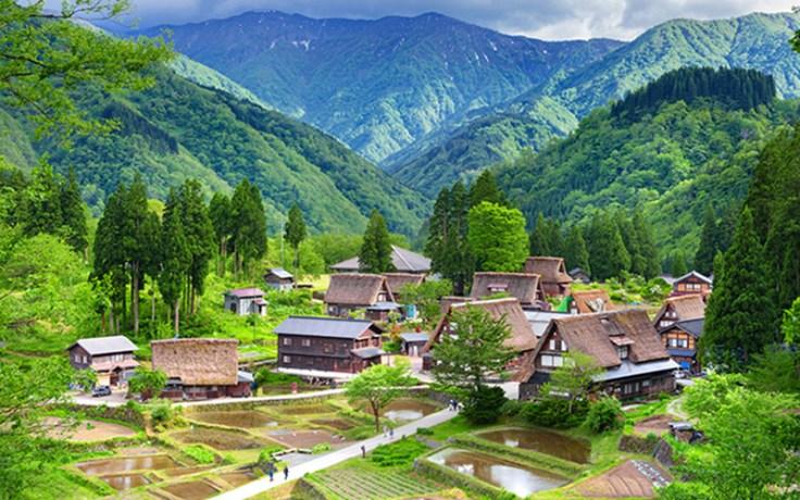 a village in Japan.