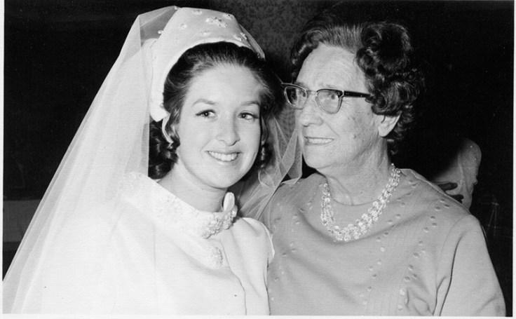 Jill with her maternal grandmother.
