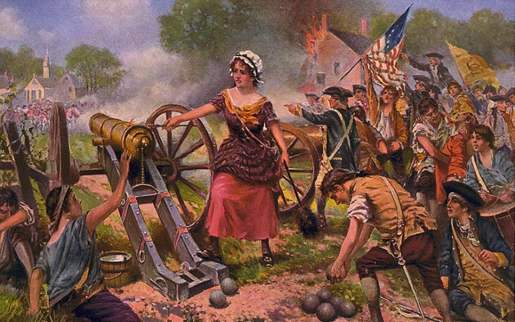 A depiction of Molly Pitcher.