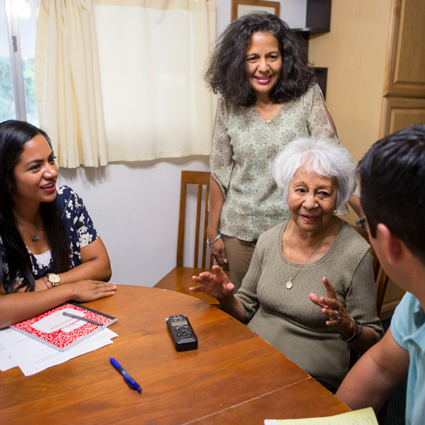 Record oral histories of your family stories for future generations.