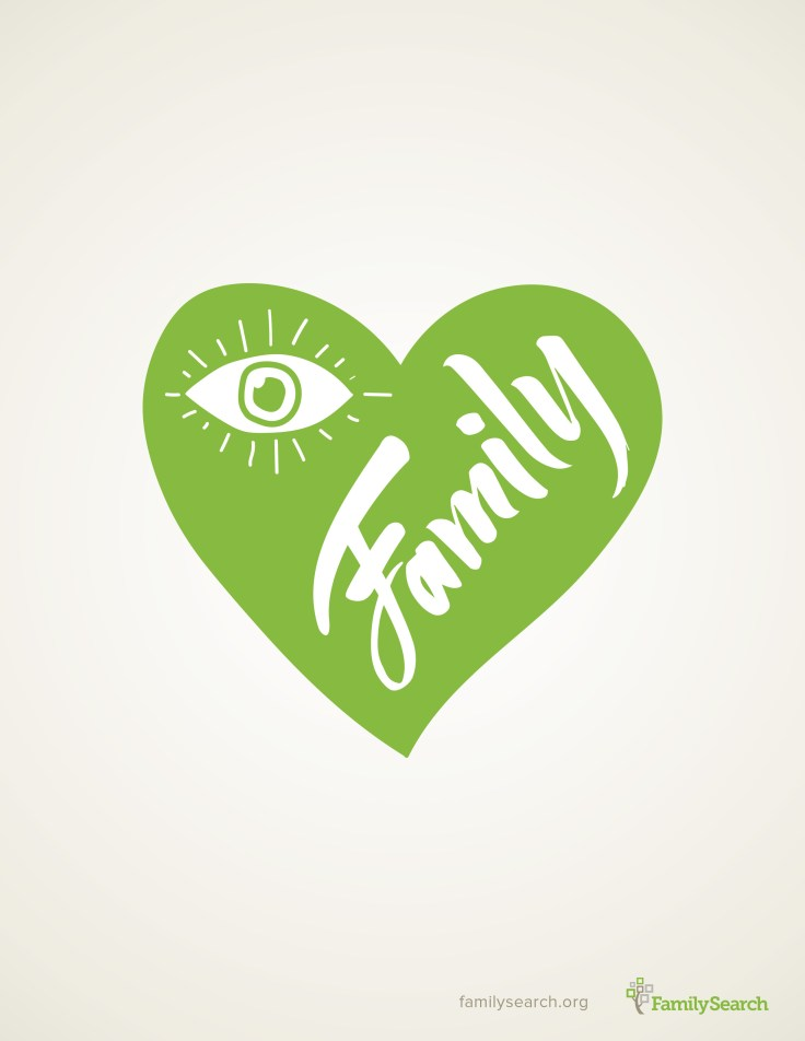 Free I HEART families printable download