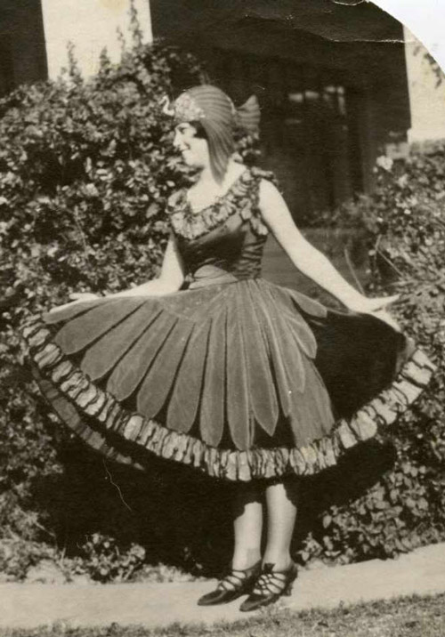Prize-winning bird costume from 1920s.