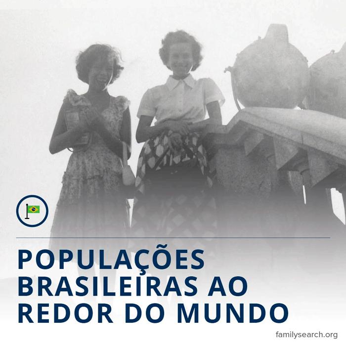 Gráfico do título para populações brasileiras ao redor do mundo.