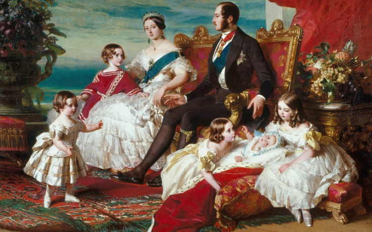 a painting of queen victoria and the royal family