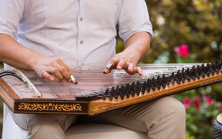 a traditional middle eastern string instrument