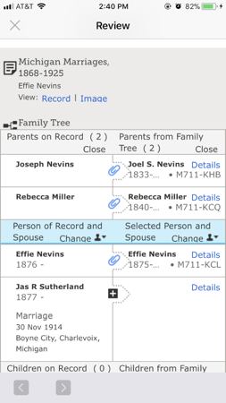 How to attach records to your ancestors on FamilySearch's Family Tree app.