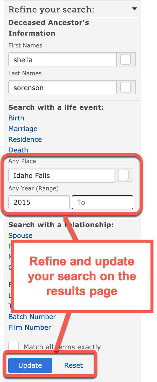 refine search familysearch screenshot