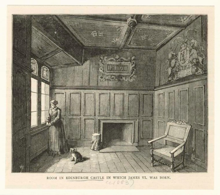 a print depicting a room in Edinburgh Castle.