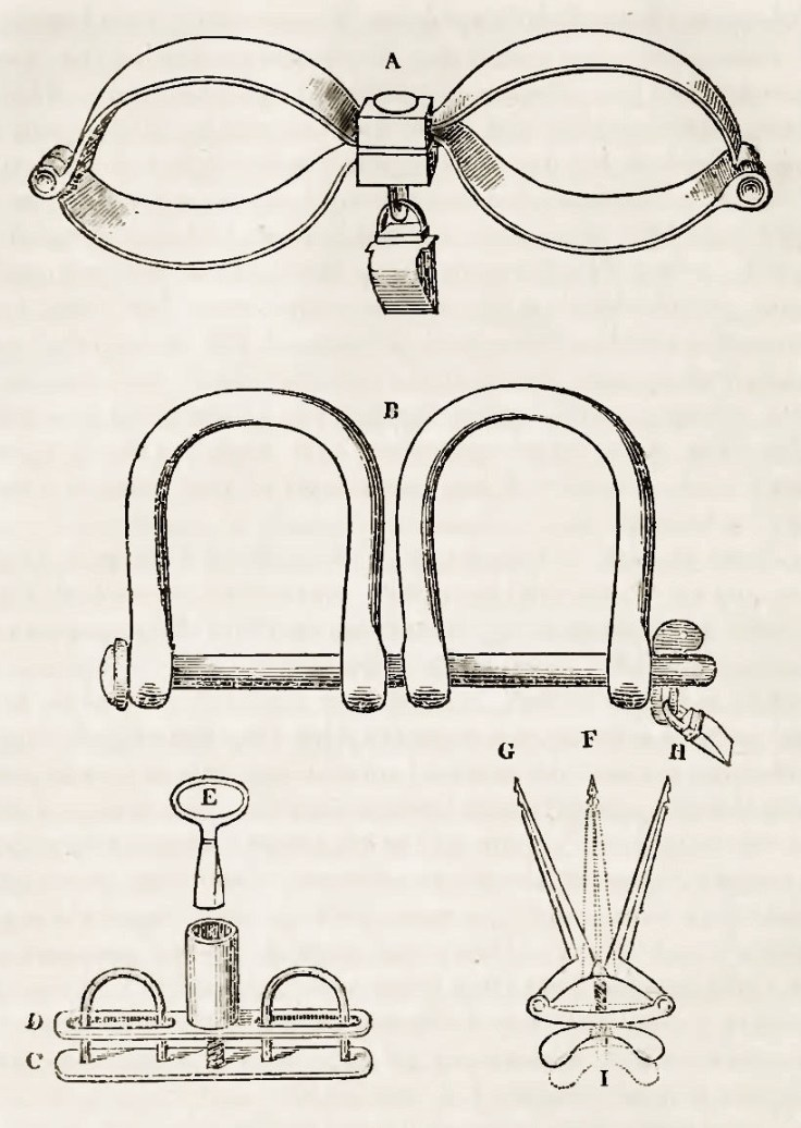 shackles used on enslaved persons.