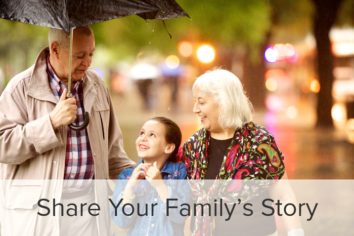 Share your family's story to connect with your ancestors.
