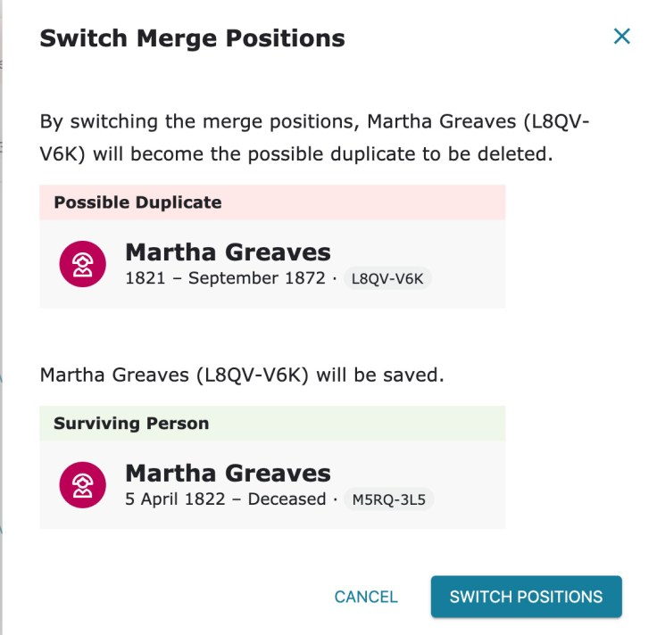 switch positions merging