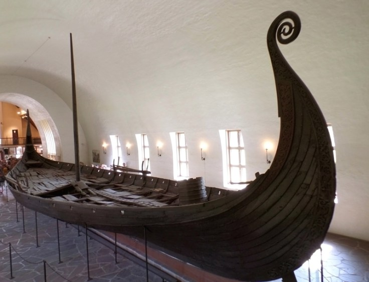 Viking ship at the Viking Ship Museum in Denmark