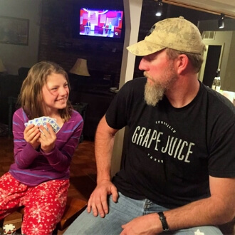 My Daughter and Husband: A Teaching Moment playing cards