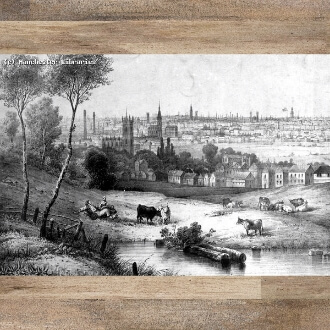 View of Manchester 1850 by Lenz
