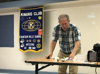 Presentation at Sunset Kiwanis