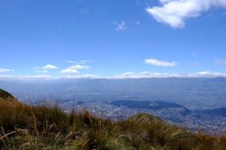 Rucu Pichincha - Blick auf Quito