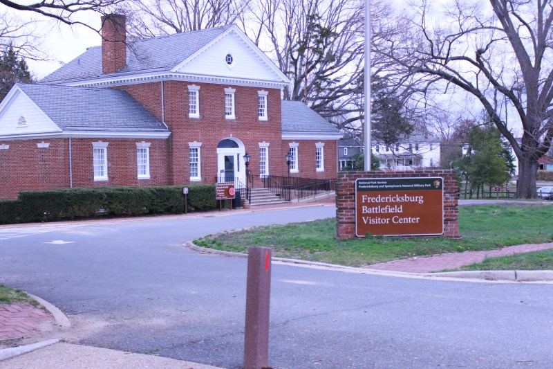 Pictured is the Fredericksburg National cemetery visitors center