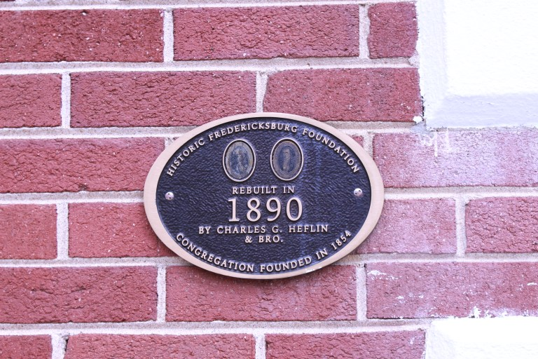 Pictured is the building Marker on the Shiloh Church Old Site