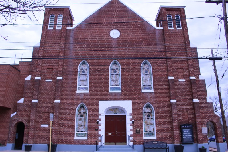 Pictured is the front of Shiloh Church (Old Site)