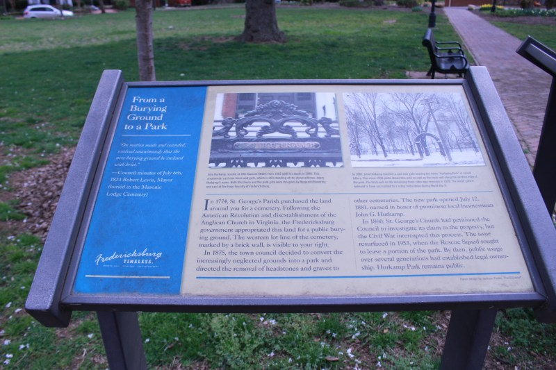 Pictured is the From Burying Ground to Park State Marker