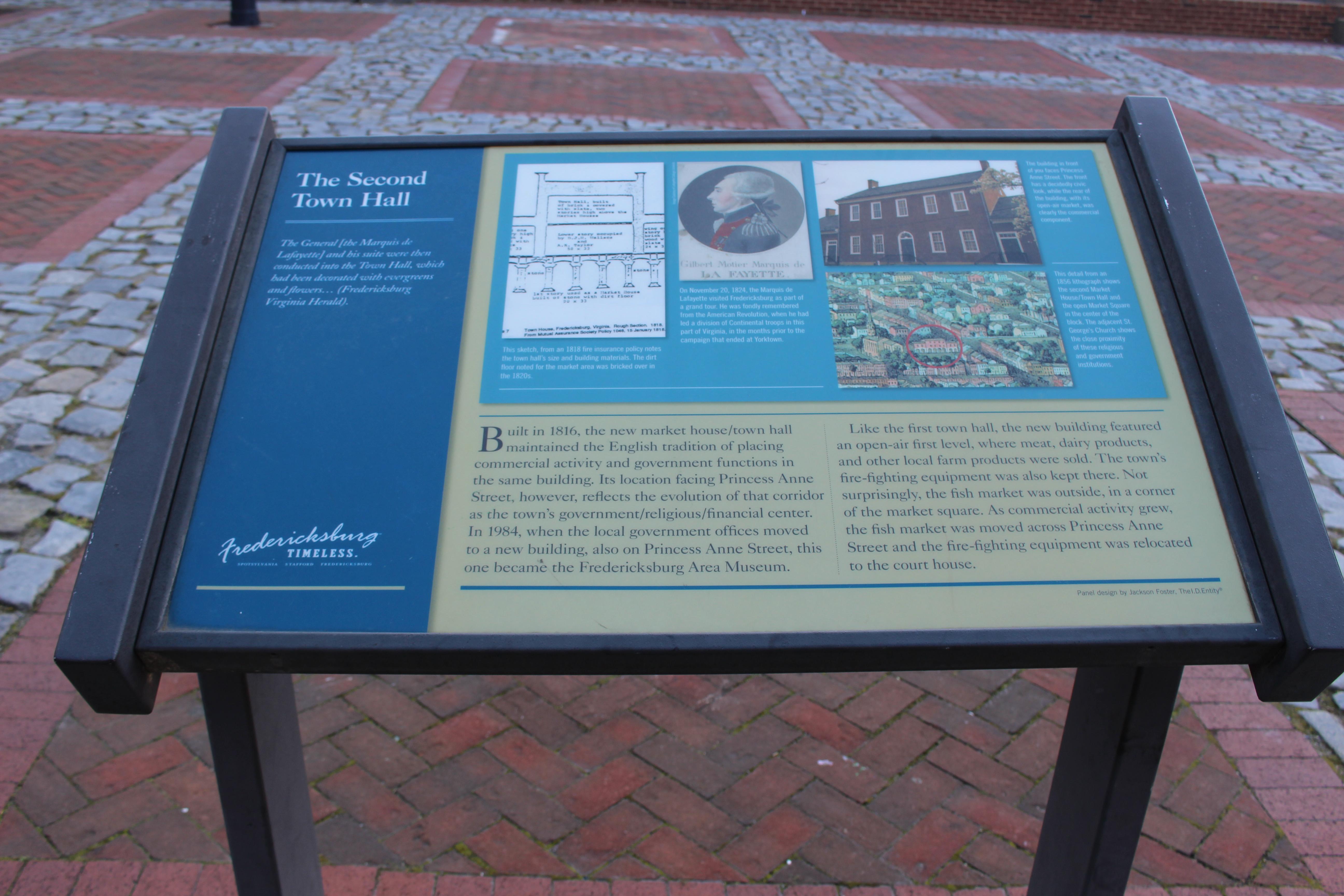 Pictured here is the Second Town Hall state marker