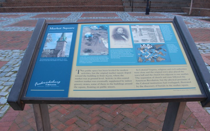 Pictured here is the market square historic marker