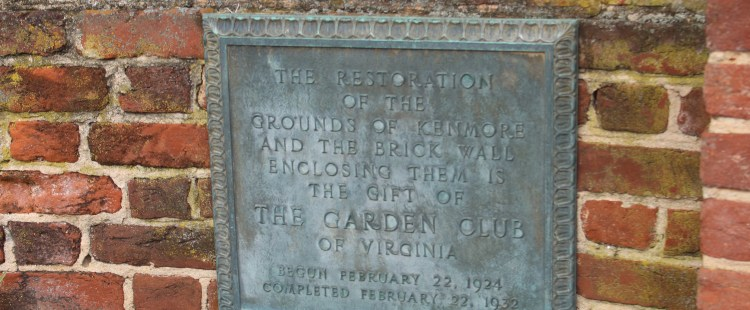 Pictured here is a plaque on the fence of the kenmore