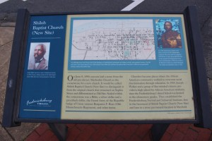 Pictured is Shiloh Baptist Church's (new Site) Marker