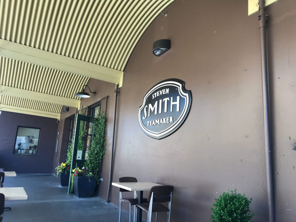 Photo of the patio at Steven Smith Teamaker in SE Portland.