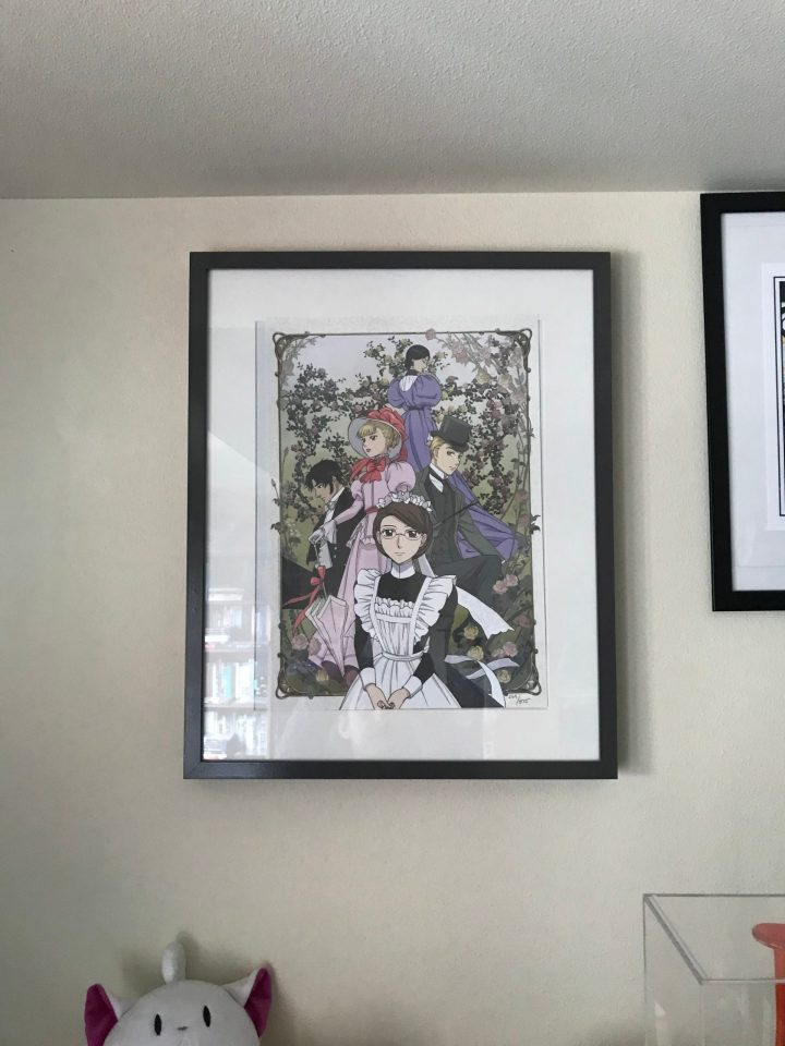 "Photo of a framed ""Emma"" lithograph."