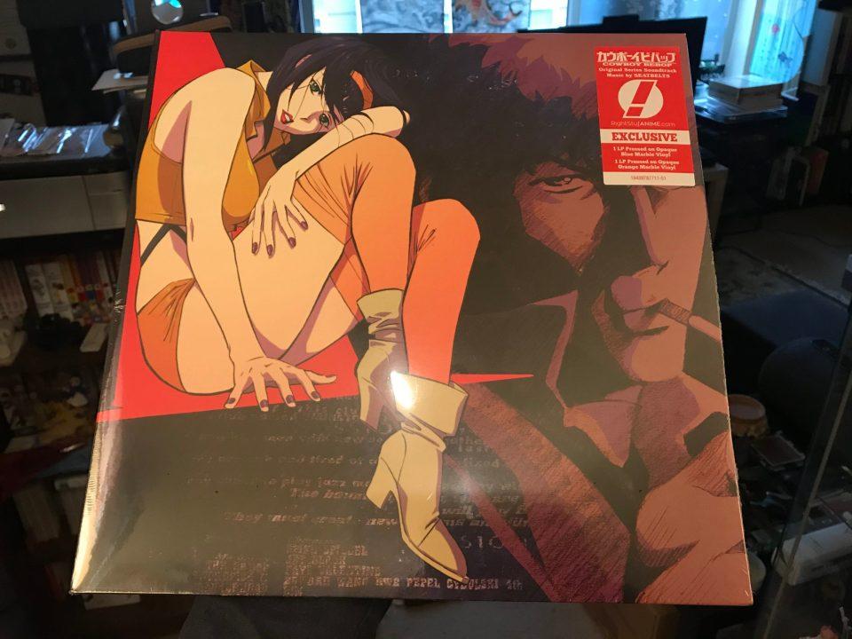 "Photo of the ""Cowboy Bebop"" soundtrack on vinyl"