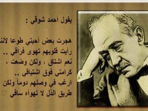 اقوال احمد شوقي