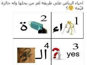 حل لغز احياء الرياض
