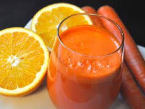 عصير جزر وبرتقال