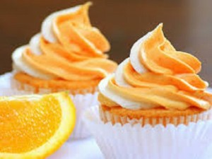 طريقة كب كيك بالبرتقال