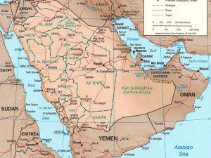 خريطة المملكة العربية السعودية بالتفصيل