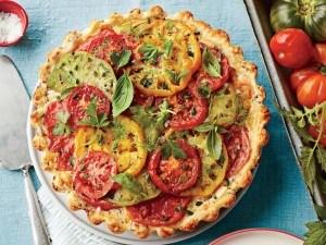طريقة عمل فطيرة الطماطم بالجبن الفرنسية