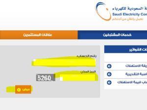 شركة الكهرباء السعودية الاستعلام عن الفواتير