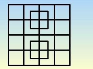 حل لغز كم مربع في الصورة