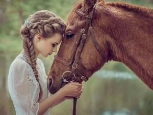 صور رمزيات خيول وبنات رومانسية 2020