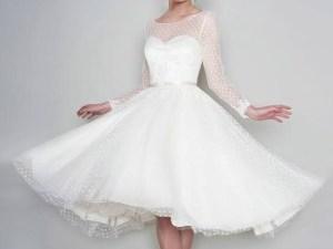 صور فستان ابيض قصير منفوش 2020