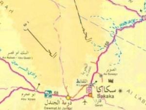 خريطة طبرجل و الرمز البريدي الخاص بها