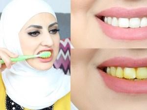 خلطات تبييض وتفتيح الأسنان في المنزل