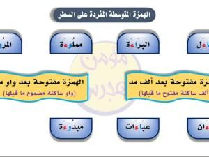 من أمثلة رسم الهمزة مفردة على السطر
