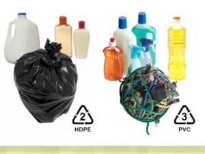 تدل علامة إعادة التدوير ذات الرقم 6 أو 7 الموجودة على العبوات البلاستيكية على
