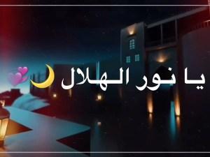 كلمات اغنية يا نور الهلال