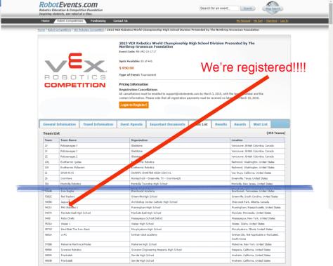 2015 Worlds Registration