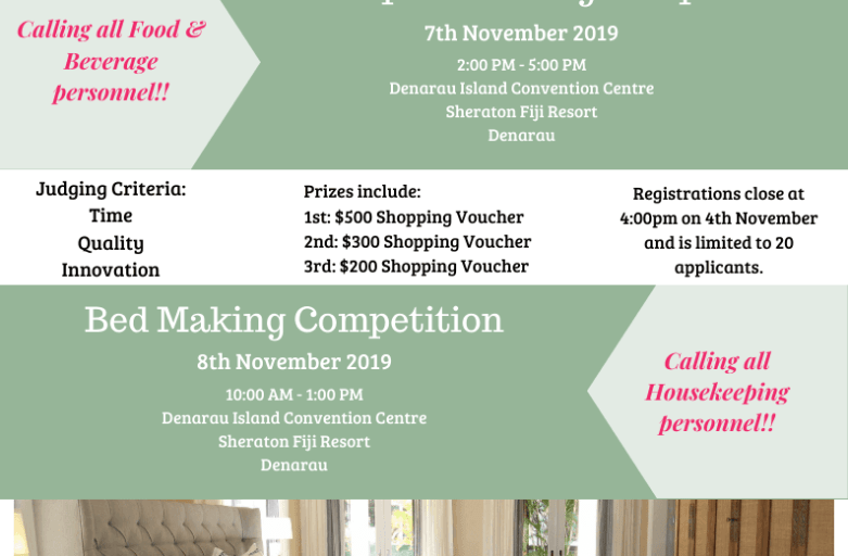 Bed Making and Table Napkin Folding Competition – Registrations now open!