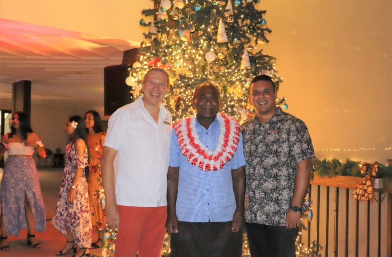 Christmas Tree Lighting Ceremony at Fiji Marriott Resort Momi Bay