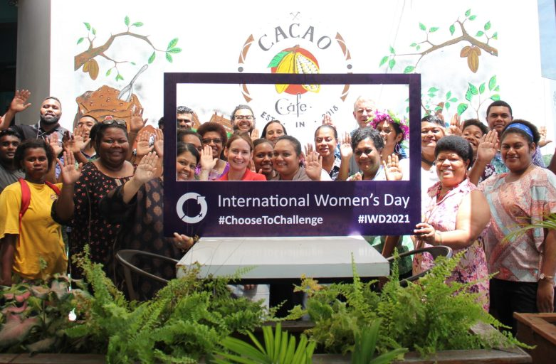 Staff at Challenge Plaza in Nadi Choose to Challenge this International Women's Day